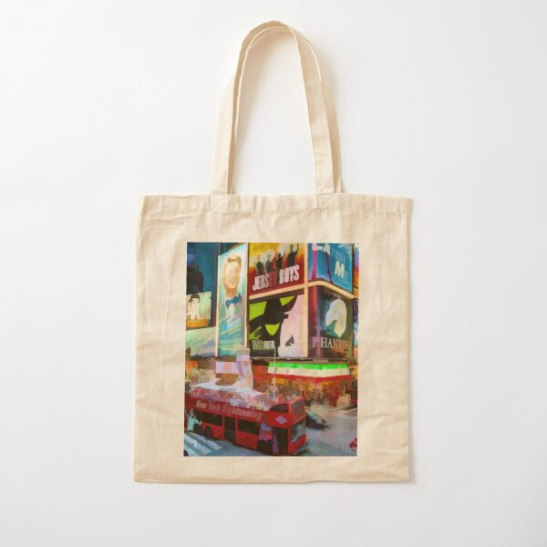 Times Square II (pastel paint style) Cotton Tote Bag