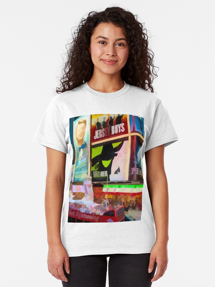 Alternate view of Times Square II (pastel paint style) Classic T-Shirt