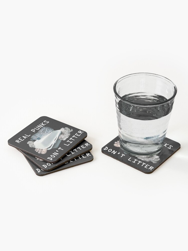 Alternate view of Dystopian Detritals (Oil painting) Coasters (Set of 4)