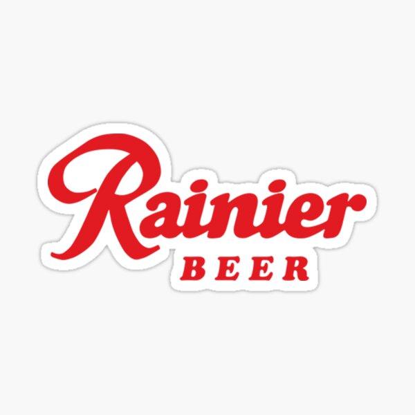 Rainier Beer Black Fast High Quality Beer Sticker