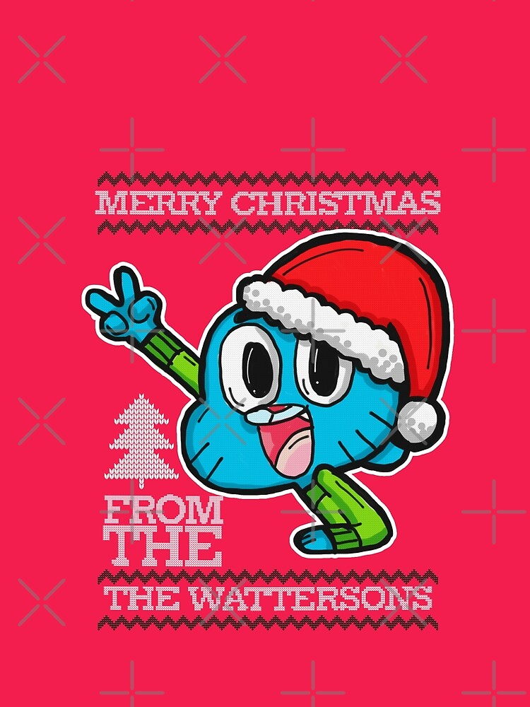 Gumball Watterson from The Amazing World of Gumball™ Ugly Christmas Design! by sketchNkustom