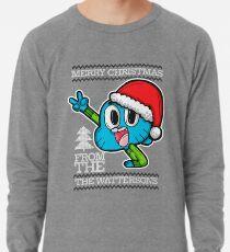 Gumball Watterson from The Amazing World of Gumball™ Ugly Christmas Design! Lightweight Sweatshirt