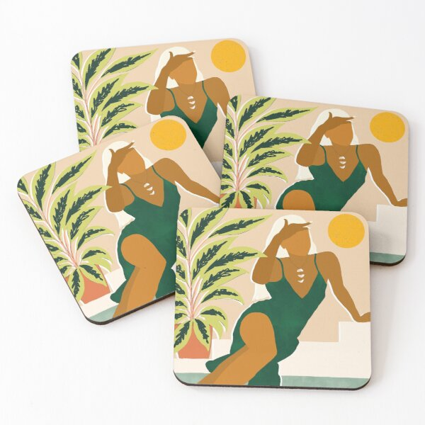 The Wait Is Long But My Dream Of You Does Not End #illustration Coasters (Set of 4)