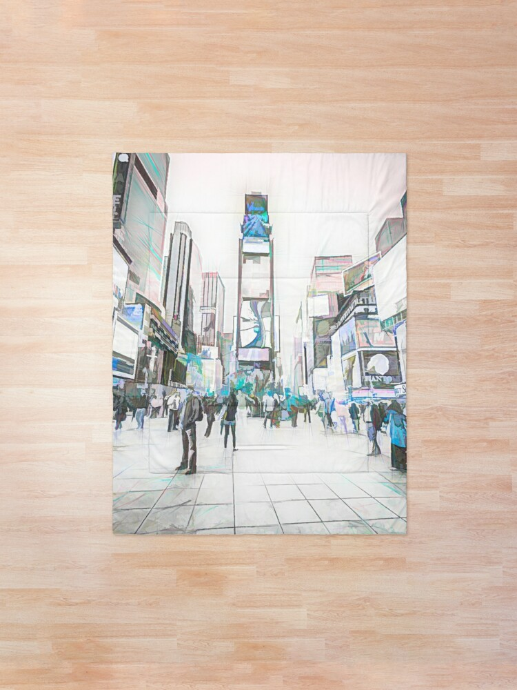 Alternate view of Times Square Sparkle (colour sketch) Comforter
