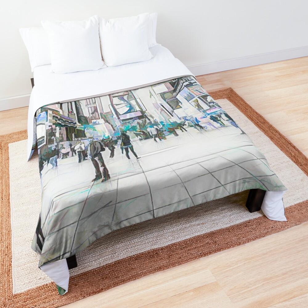 Times Square Sparkle (colour sketch) Comforter