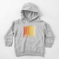 Retro 1980s Lexington City Skyline Silhouette Toddler Pullover Hoodie