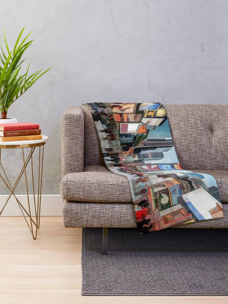 Alternate view of Times Square Sparkle (light pastel) Throw Blanket