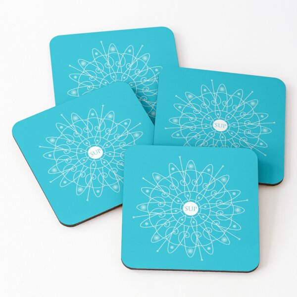 Paddleboard Pattern Coasters (Set of 4)
