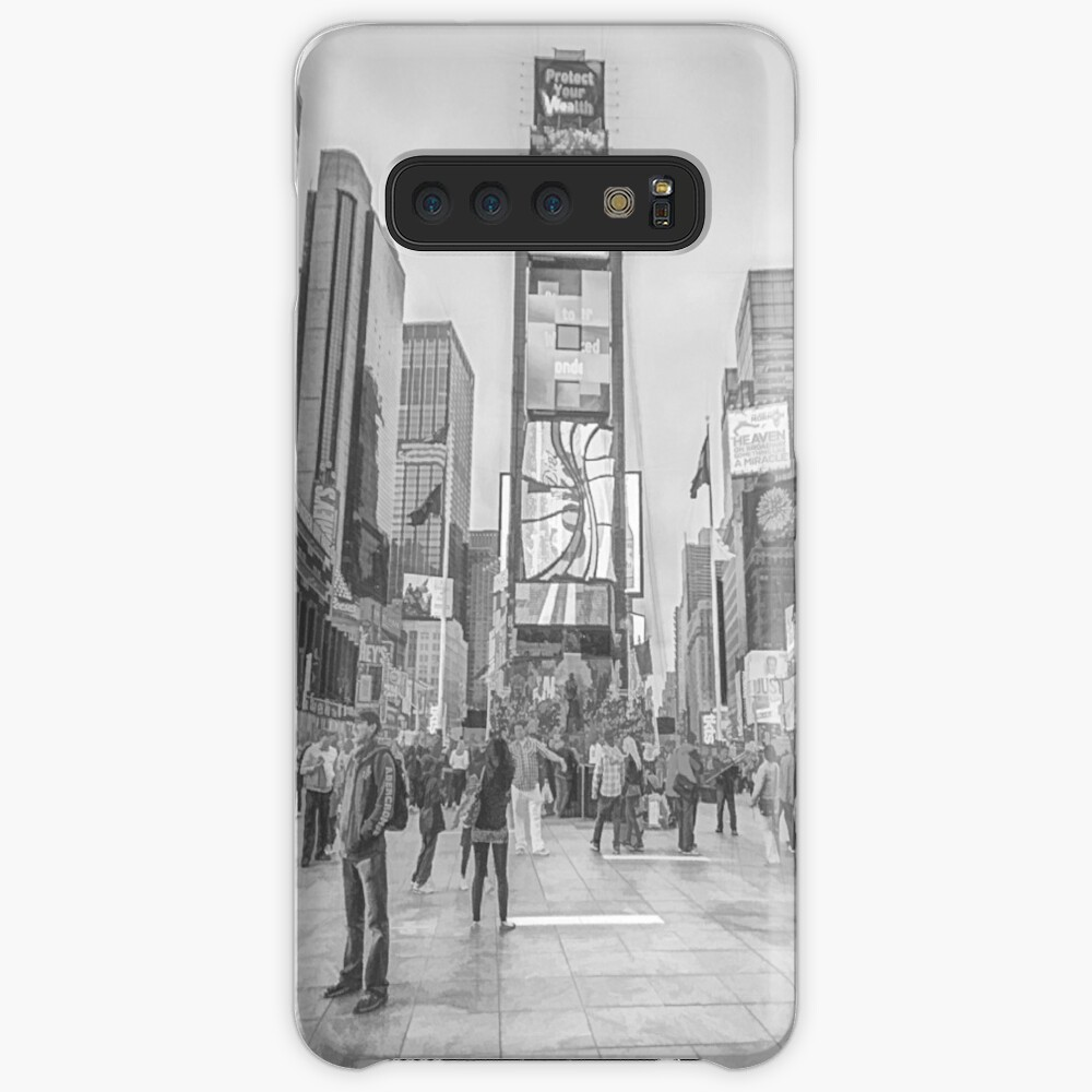 Times Square Sparkle (pencil sketch) Case & Skin for Samsung Galaxy