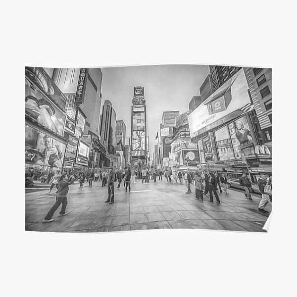 Times Square Sparkle (pencil sketch) Poster