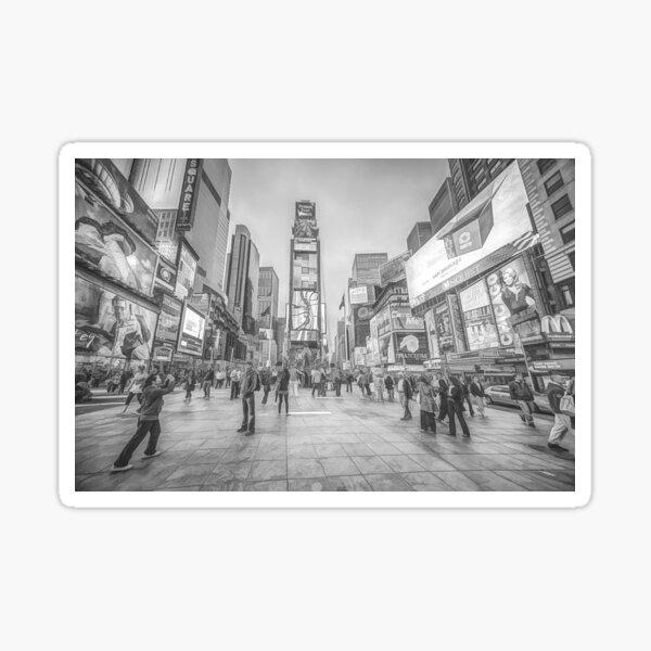 Times Square Sparkle (pencil sketch) Sticker