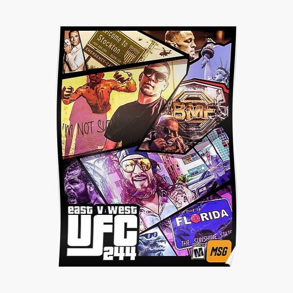 UFC 244 - EAST VS WEST Poster