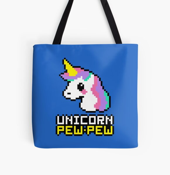Unicorn Pew-Pew! All Over Print Tote Bag