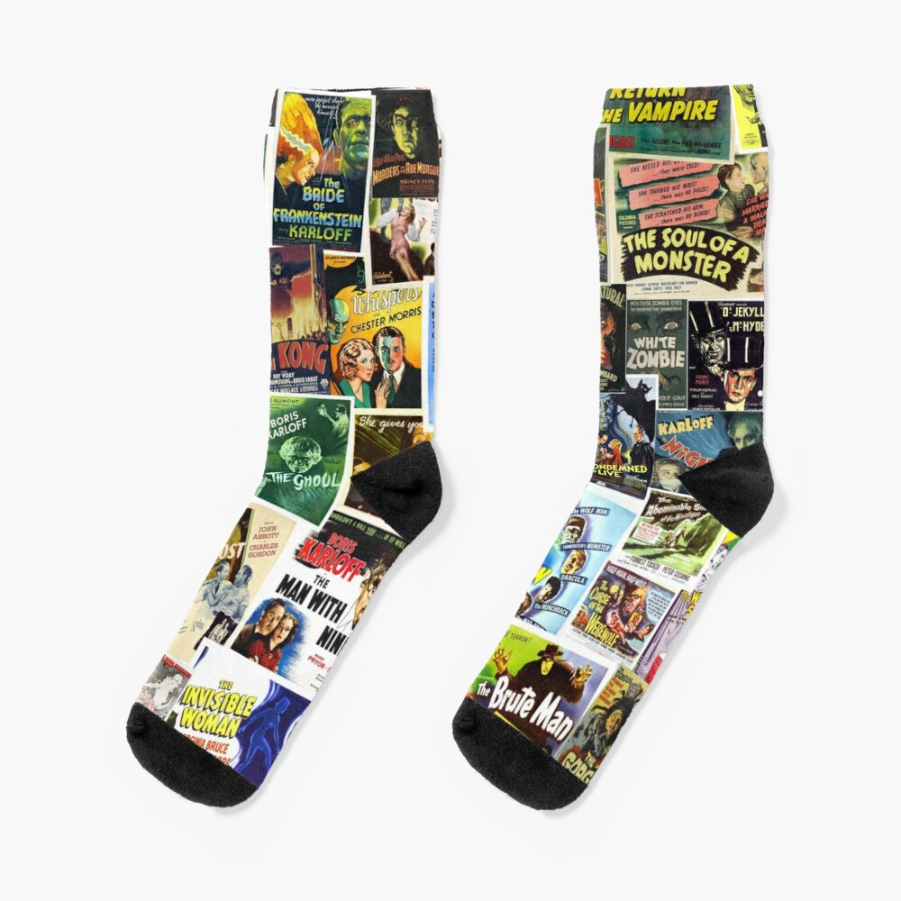 Vintage Horror Socks