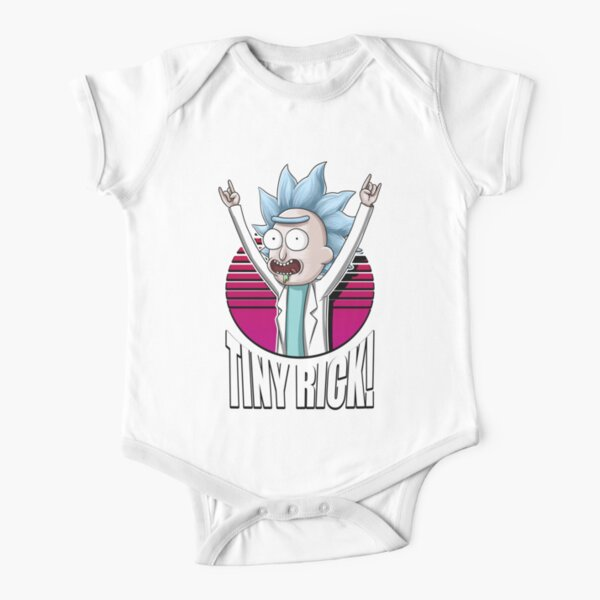 TINY RICK! Short Sleeve Baby One-Piece
