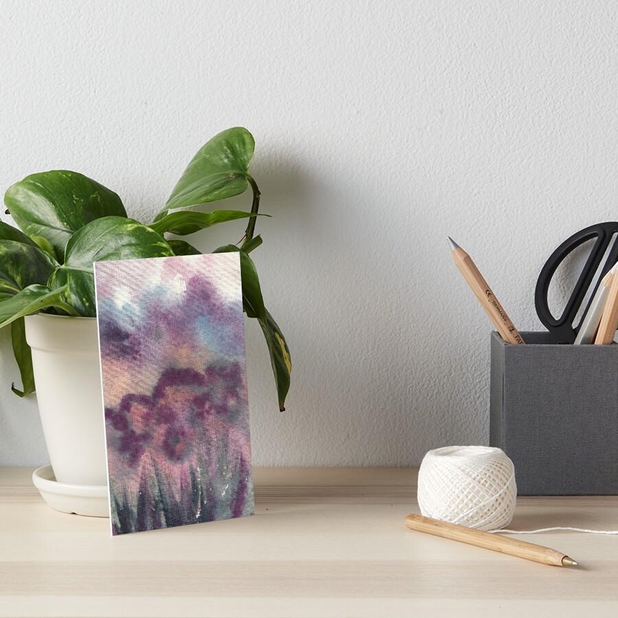 Watercolor, flower fields in New Zealand Art Board Print