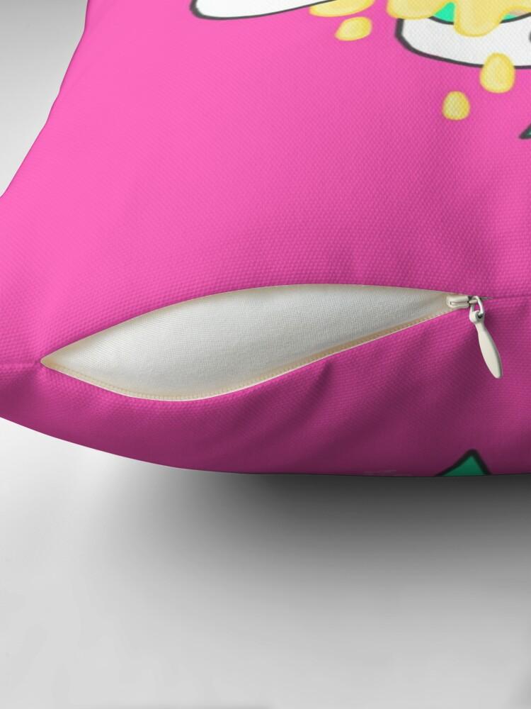 Alternate view of Glorifying Obesity 2.0 Throw Pillow