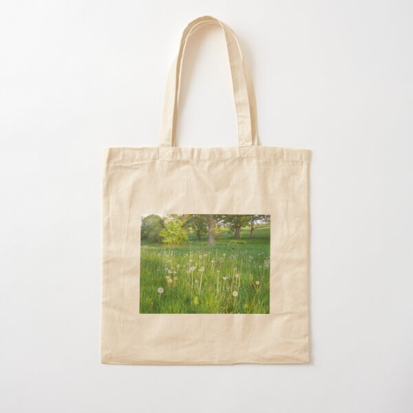 Field of Dandelions Cotton Tote Bag
