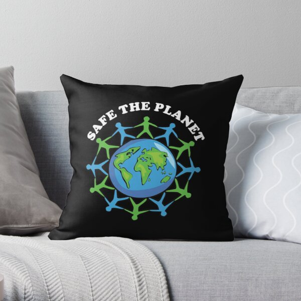 Safe the planet Fridays for future Throw Pillow