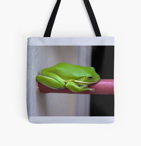 It's Not Easy Being Green All Over Print Tote Bag