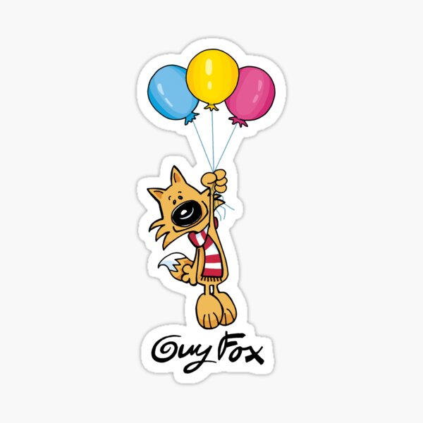 Guy Fox Balloons Sticker