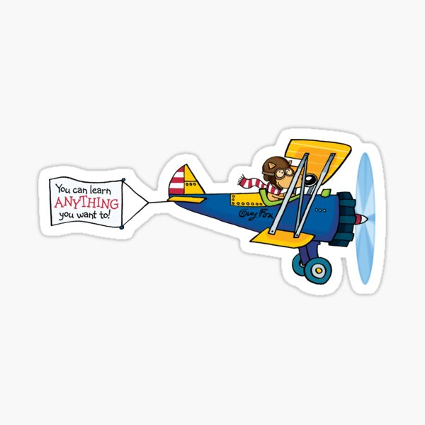Guy Fox Airplane Sticker