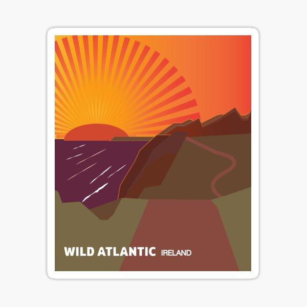 Wild Atlantic Way Ireland Design Sticker
