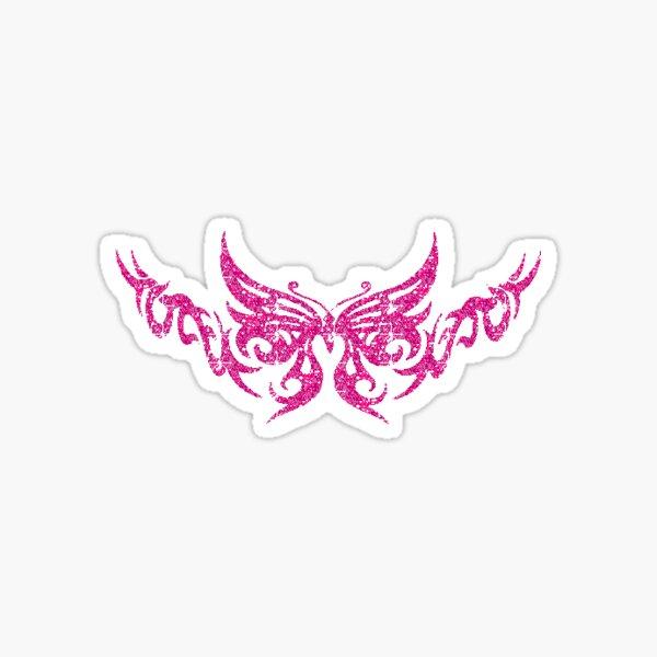 mariposa rosa Pegatina
