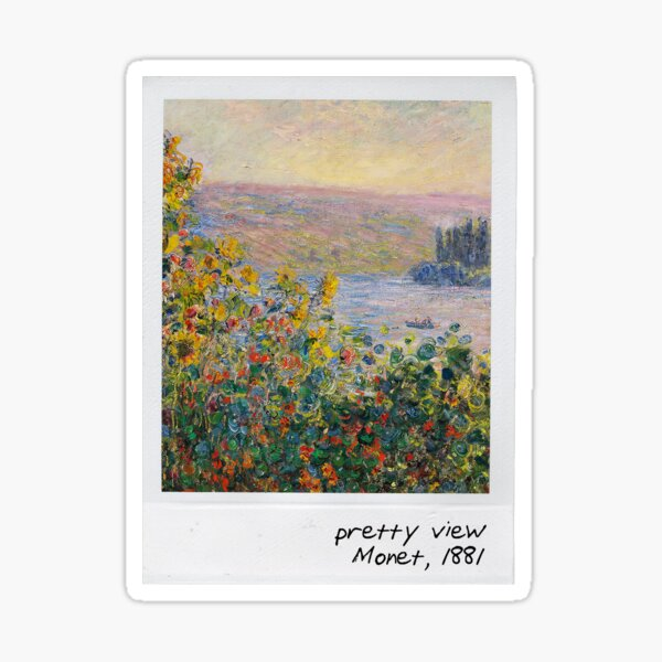 monet - pretty view Sticker
