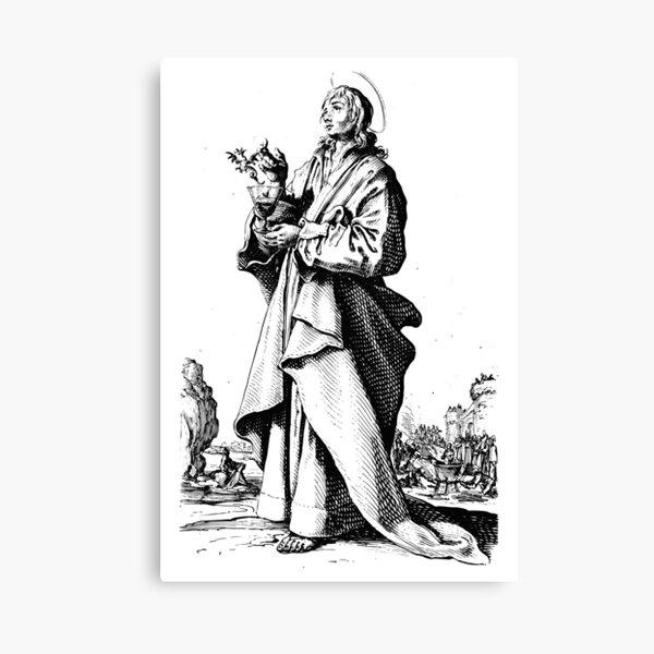 Saint John the Evangelist - Jacques Callot Canvas Print