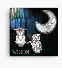 Wisdom Of The Owl Canvas Print