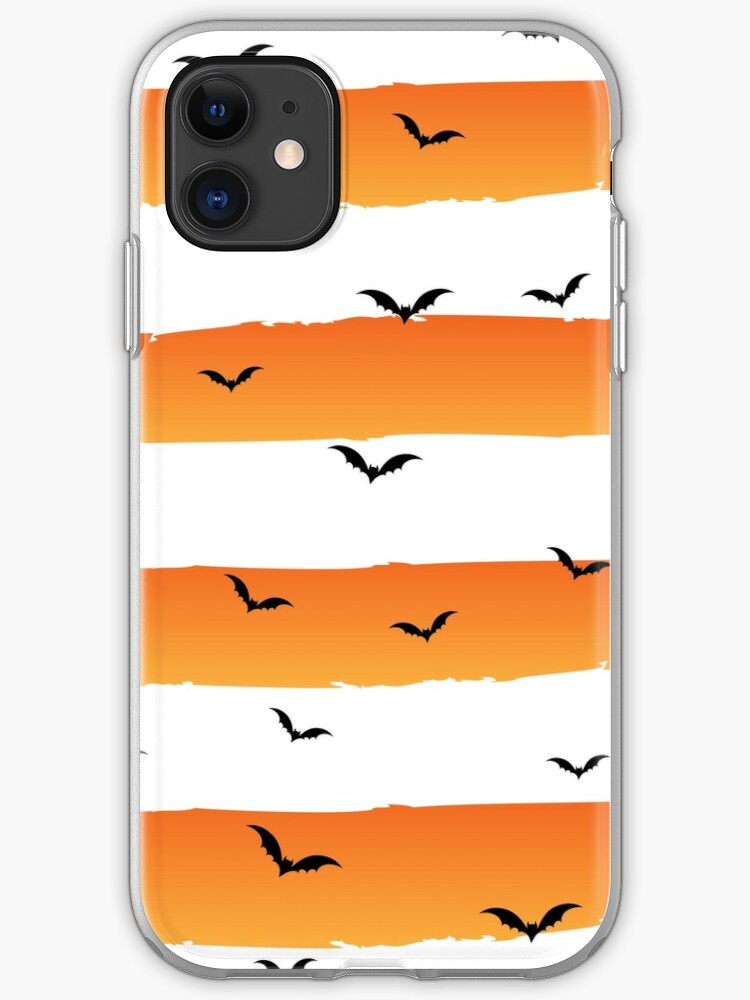 Halloween Bats Background Iphone Case Cover By Teetowns Redbubble
