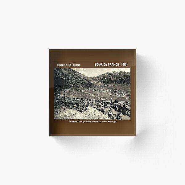 TOUR de FRANCE : Vintage 1954 Mont Ventoux pass Print Acrylic Block