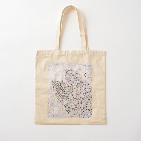 Two Lovers in a field of flowers. Cotton Tote Bag