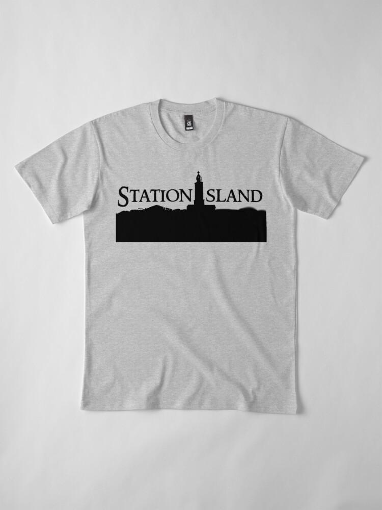Alternate view of Station Island - Logo Black Premium T-Shirt