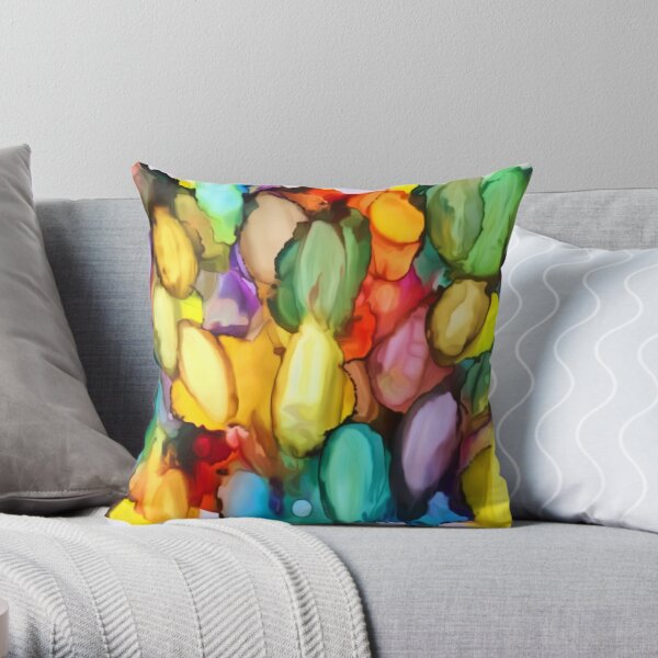 Vibrant Vianne Throw Pillow