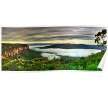 Wentworth falls Jamison lookout Poster