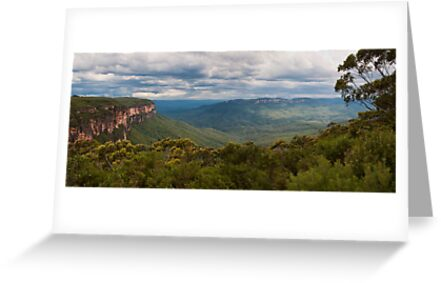 Jamison Valley from Wentworth Falls Lookout by Chris  Randall