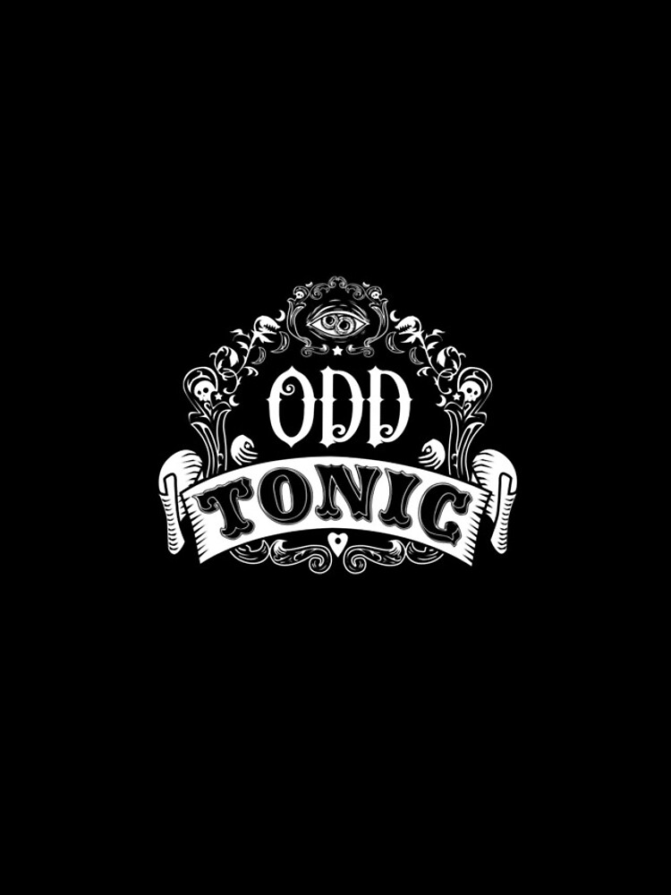 Odd Tonic Official Logo - PRINT ON BLACK by OddTonic
