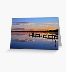 Sunrise on lake.  11-2-11 Greeting Card