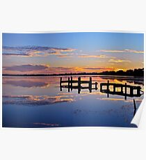 Sunrise on lake.  11-2-11 Poster