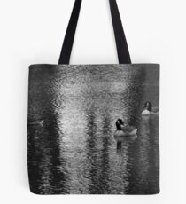 Geese at Lake Tote Bag