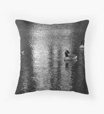 Geese at Lake Throw Pillow