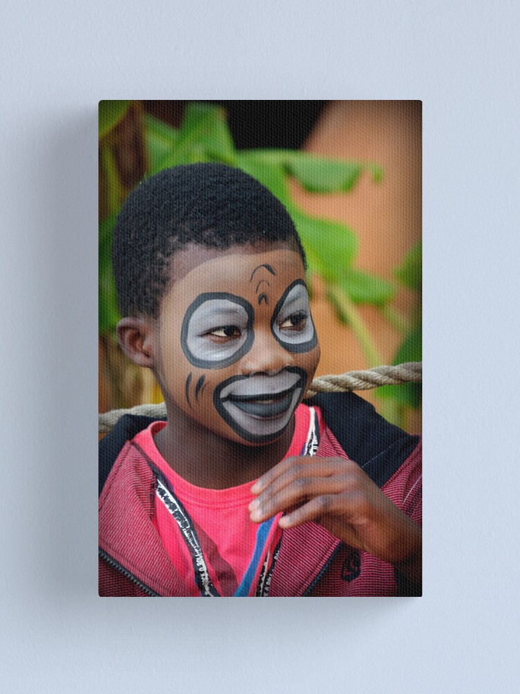Alternate view of Face Painting Canvas Print
