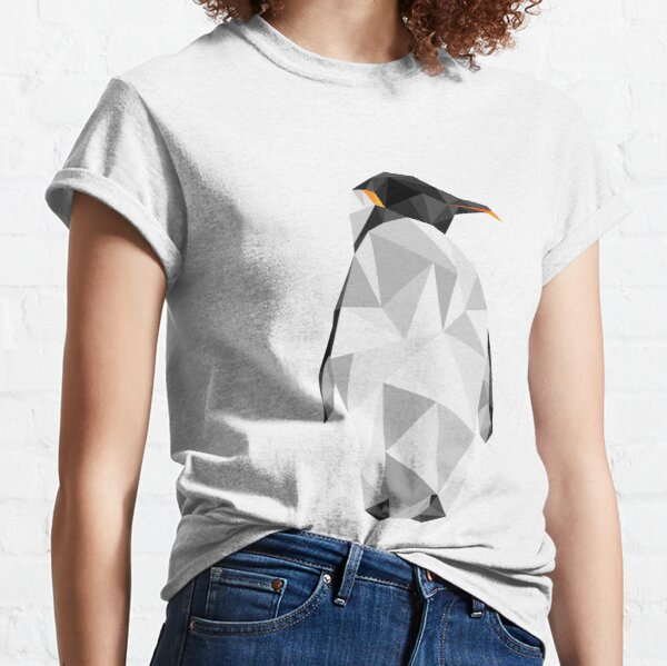 Pingüino geométrico Camiseta clásica