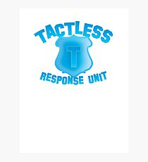 TACTLESS Response unit with shield badge Photographic Print