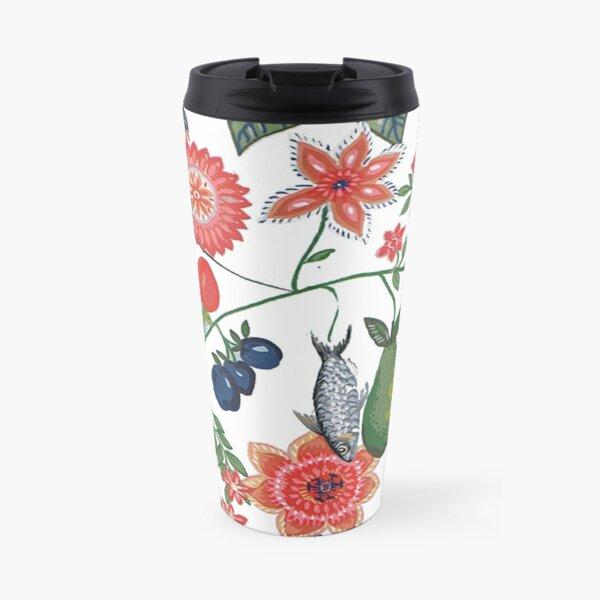 Sea food and flora  Travel Mug