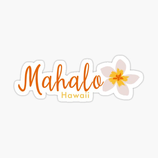 Mahalo Frangipani Hawaii Sticker