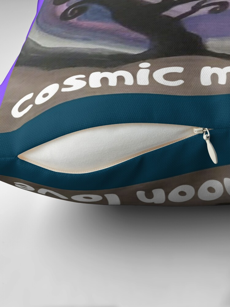 Alternate view of COSMIC GALAXY MOON (ACRYLIC PAINTING)  Floor Pillow