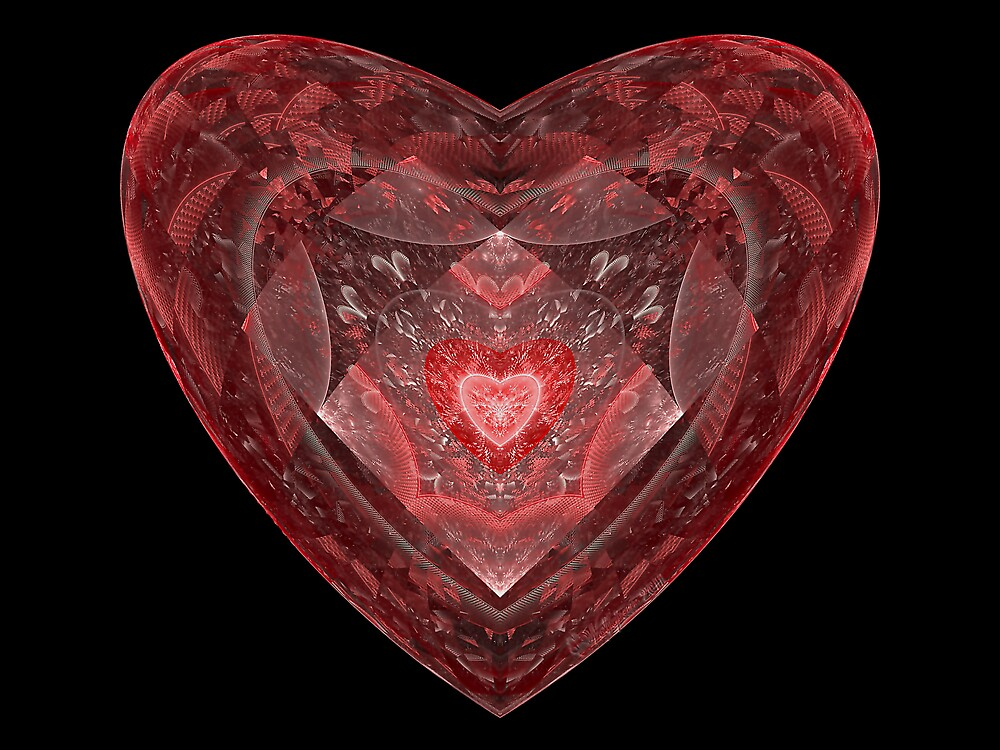 Ruby Glass Heart by wolfepaw